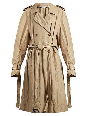 J.W.Anderson Jw Anderson - Double Breasted Twill Trench Coat - Womens - Beige