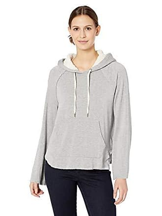 Splendid Womens Super Soft with Sherpa Hoodie Pullover, Heather Grey S