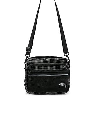 Stüssy Ripstop Nylon Shoulder Bag in Black