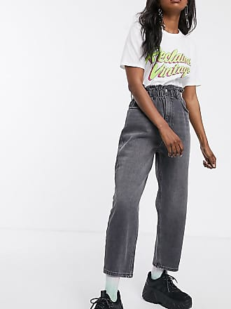 Reclaimed Vintage inspired The 96 mom jean with gathered high waist-Blue