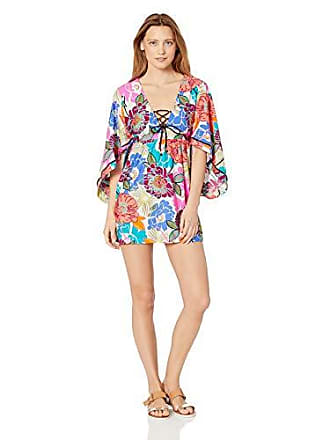 e07797db600b Trina Turk Womens V-Neck Tunic Dress, Pink//Radiant Blooms, Medium