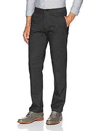 Haggar Mens Coastal Comfort Straight Fit Superflex Waist Flat Front Pant, Black, 40Wx30L
