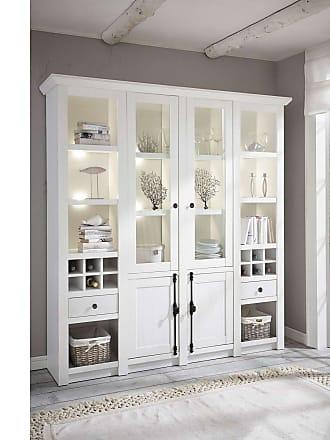 Stylefy Liliann Vitrine Weiß mit LED-Beleuchtung