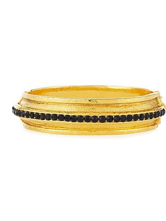 9b571676f Jose & Maria Barrera 24K Gold-Plated Bracelet with Jet Black Crystals