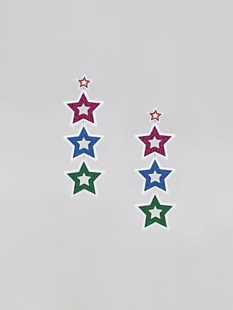 C&A Brinco Feminino Pride Estrelas com Glitter Branco