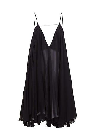 Jacquemus Bellezza Chiffon Dress - Womens - Black