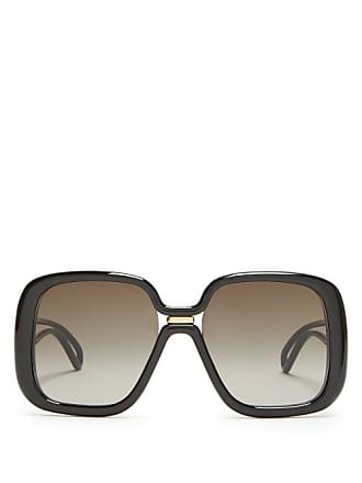 f9d2a4a37511b Givenchy Oversized Square Frame Acetate Sunglasses - Womens - Black
