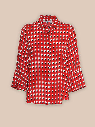 L'autre Chose CHERRY-RED SHIRT WITH 3/4-LENGTH SLEEVES