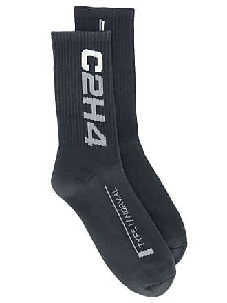 C2H4 Par de meias com logo Company - Cinza