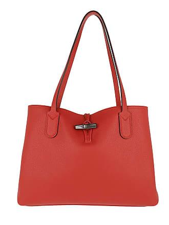 4287650d743 Longchamp Roseau Essential Tote Bag M Leather Red Tassen met handvat rood