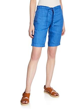 120% Lino Drawstring Turn-Up Cuff Linen Shorts