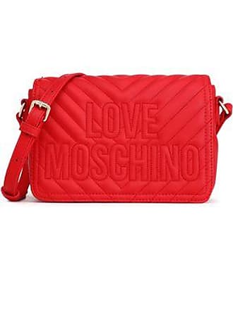 b377e776736 Love Moschino Love Moschino Woman Embroidered Quilted Faux Leather Shoulder  Bag Claret Size