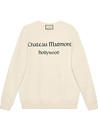 0c2572a0c06 Gucci Oversize sweatshirt with Chateau Marmont - White