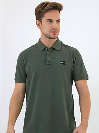 Calvin Klein Jeans Camisa Polo Calvin Klein Jeans Reta Logo Verde