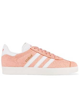 reputable site 29c50 b8658 adidas Originals Gazelle Sneakers Aus Craquelé-veloursleder - Pfirsich