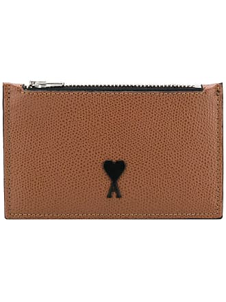 Ami Zipped Cardholder - Brown