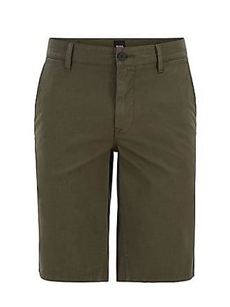 563543eb6 BOSS Slim-fit chino shorts in overdyed stretch cotton