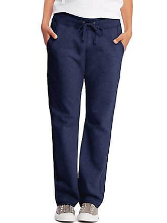 Hanes Womens French Terry Pocket Pant Charcoal Heather 2XL