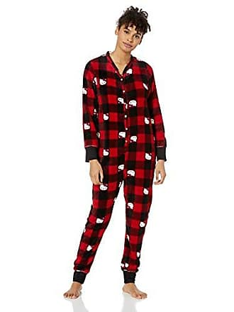 20664d78f Hello Kitty Womens Printed Plush Union Suit, red Plaid, Medium