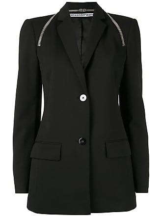 Alexander Wang tailored zipper detail blazer - Preto