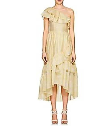 c6c36d711d3d Ulla Johnson Womens Clemente Cotton-Silk Organza Dress - Yellow Size 8