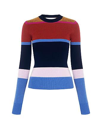 Derek Lam Color Striped Sweater Blue Stripe