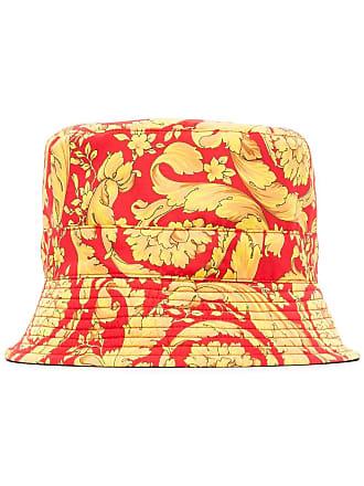 Versace Baroque print bucket hat - Vermelho