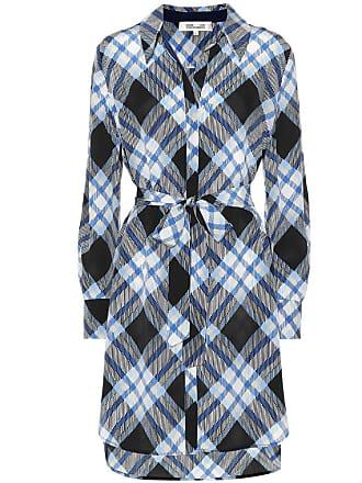 Diane Von Fürstenberg Plaid silk shirt dress