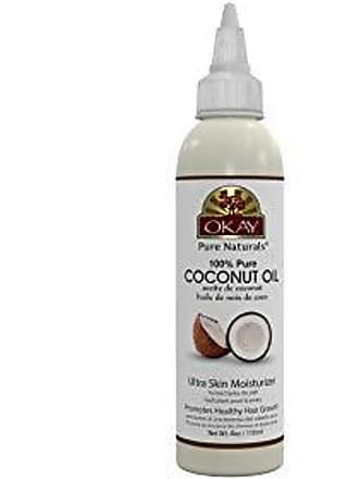 Okay | 100% Pure Coconut Oil | For All Hair Textures & Skin Types | Ultra Skin Moisturizer & Promotes Healthy Hair Growth | All Natural | Free Of Parabens, Silicones, Sulfates | 4 Oz