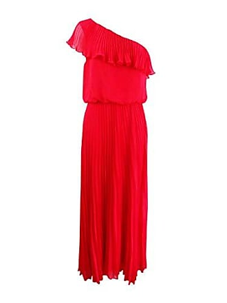 Xscape Womens Long One Shoulder Dress, g. red, 6