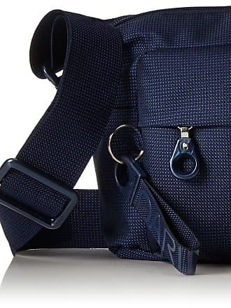 Mandarina Duck Womens Mellow Leather Tracolla/Flame Scarlet Cross-body Bag, Grey (Amphora), 10x21x28.5 cm (B x H x T)