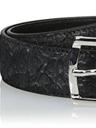 Bugatchi Mens Cocodrile Effect Leather Belt