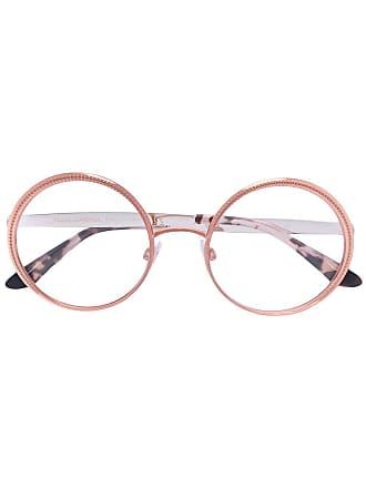 Dolce & Gabbana Eyewear Óculos com armação arredondada - Metálico