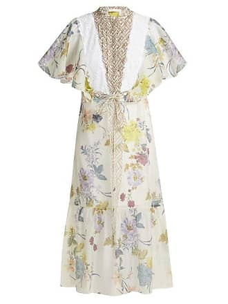88eb4d0def400 See By Chloé Floral And Geometric Print Chiffon Maxi Dress - Womens - White  Multi