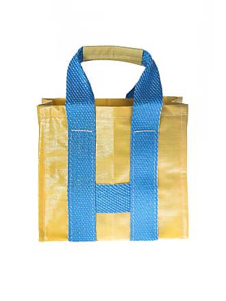02e73acfbb Comme Des Garçons Borsa shopper gialla e blu effetto intrecciato