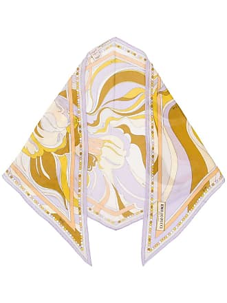 Emilio Pucci Rivera Print Rhombus Scarf - Yellow
