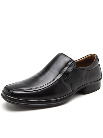 Rafarillo Sapato Social Couro Rafarillo Liso Preto