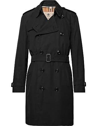 Burberry Kensington Cotton-gabardine Trench Coat - Black
