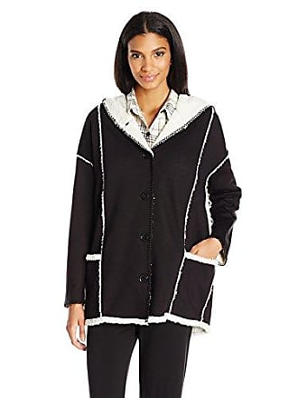 PJ Salvage Womens Sherpa Chic Jacket, Black, M