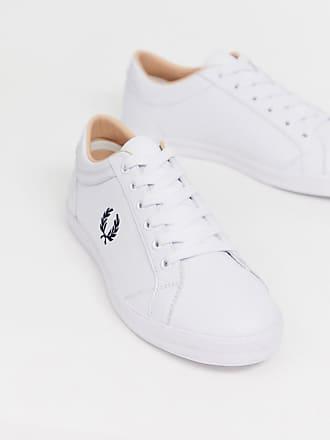 15d396a1f42 Fred Perry Baseline - Vita sneakers i läder - Vit