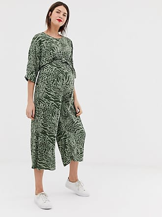 419d5e136fd ... tie waist jumpsuit in animal print. Asos Maternity