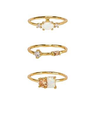 Gorjana Hudson Ring Set in Metallic Gold