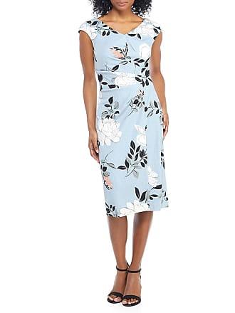 Maggy London Floral Faux-Wrap Sheath Dress