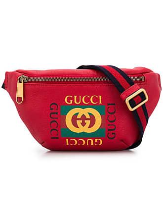 0aa304f1e7bc Gucci sac banane à logo imprimé - Rouge