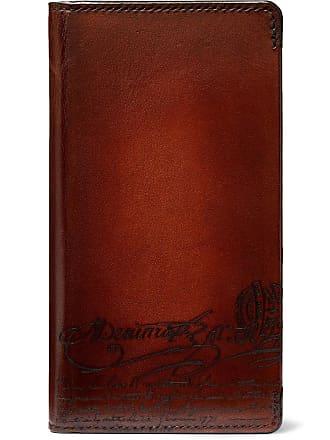 Berluti + Native Union Scritto Leather Iphone Xs Case - Brown
