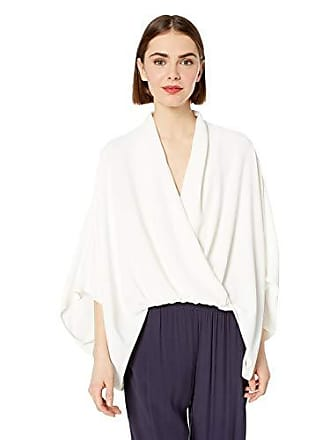 Trina Turk Womens Concourse Drapey Crossover Top, Whitewash, Small
