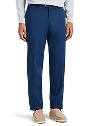 Hiltl Mens Cotton Flat-Front Trousers - Blue Size 31