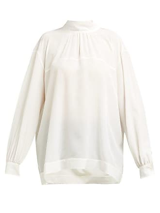Rochas Orial Silk Blouse - Womens - Ivory