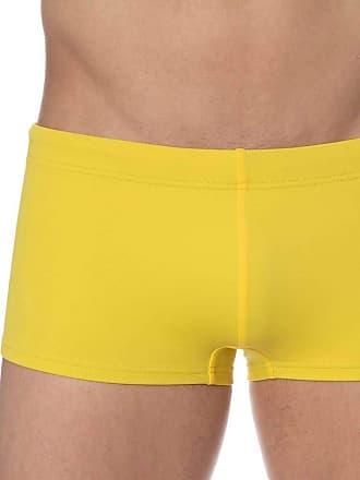 Emporio Armani Iconic Pop Contrast Swim Boxer Yellow
