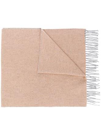 Brunello Cucinelli classic fringed scarf - Marrom